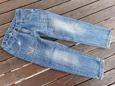 kalhoty džíny - vel. 5 - 6 let 116 - slabé