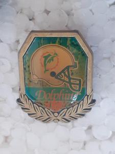Odznak MIAMI DOLPHINS  - NFL 1996 - 1997 - americký fotbal