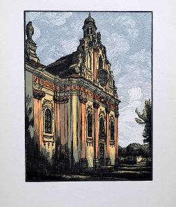 VIK KAREL – chrám Mnichovo Hradiště – DŘEVORYT