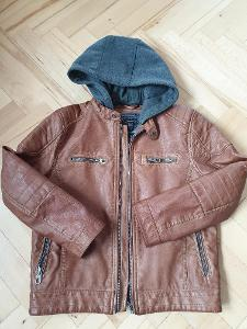 chlapecká koženková bunda C&A vel 134