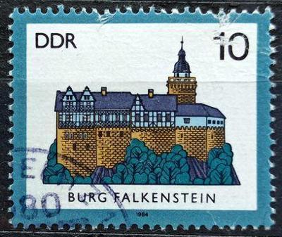 DDR: MiNr.2910 Falkenstein Castle 10pf, Castels Issue 1984