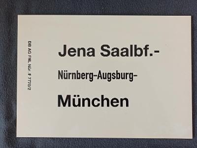 Směrová cedule DB - D (Jena - München)