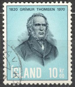 Island 1970 Mi 445 Grímur Thomsen, básník