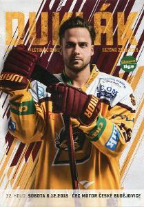 Dukla Jihlava - Motor České Budějovice - 2018 - program hokej