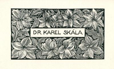 František Kobliha: Dr. Karel Skála (navštívenka)