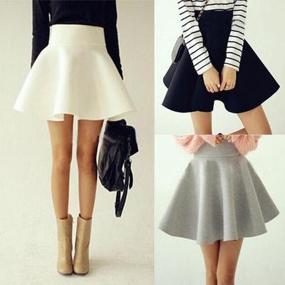 Módní elastická krátká skládaná sukně