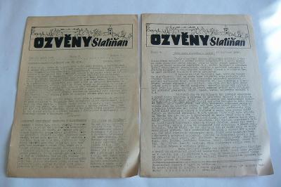 STARÉ NOVINY - OZVĚNY SLATIŇAN - 1956 - 2 KS