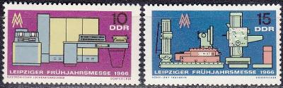 Německo / NDR / DDR 1966 Mi.1159-1160 MNH**