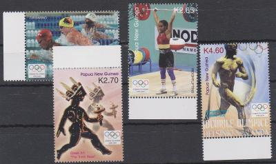 Papua Nová Guinea 2004,seria LOH Atény, svěží