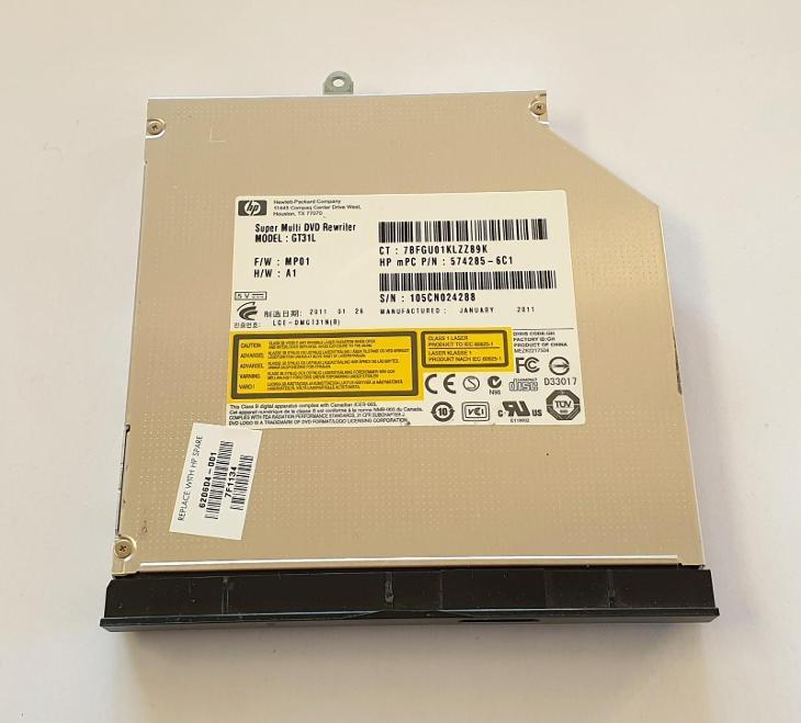 DVD-RW S-ATA GT31L z HP Compaq CQ56-230SC - Notebooky, příslušenství