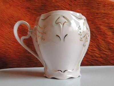 Hrnek, růžový porcelán