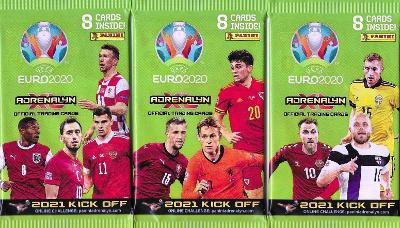 Fotbalové kartičky 2021 KICK OFF UEFA EURO 2020  : Nové balíčky  !