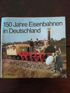 Leták / plakát 150 let železnice v Německu 1985