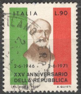 Itálie 1971 Mi 1338 republika 25 let, politik Mazzini