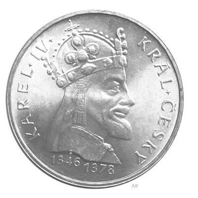 Vzácná stříbrná 100 Kčs mince 1978 Karel IV, perfektní stav, Ag!