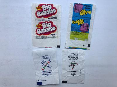4x starý žvýkačkový obal - obrázek - Big Babaloo