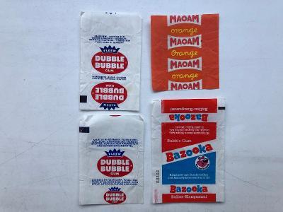 4x starý žvýkačkový obal - obrázek