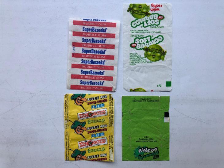 4x starý žvýkačkový obal - obrázek - Ostatní