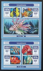 Togo 2015 Mi.7093-6+Bl.1235 27€ Africké ryby a fauna oceánů