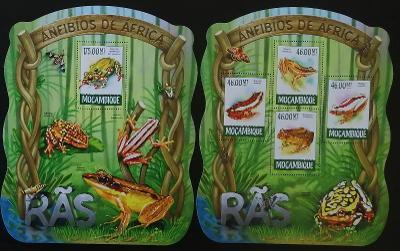 Mozambik 2015 Mi.7864-7+Bl.1013 20€ Tropické žáby, obojživelníci