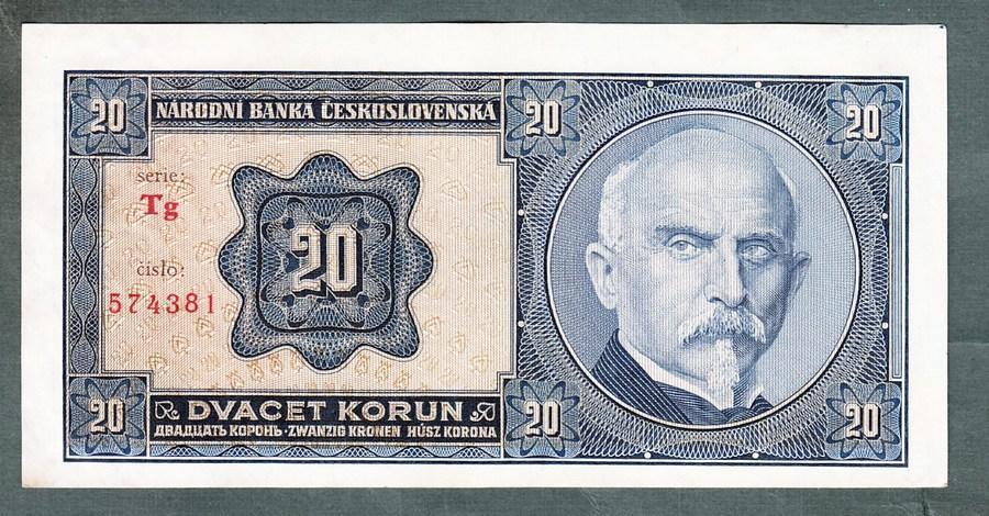 20 korun 1926 NEPERFOROVANA stav 0 - Bankovky