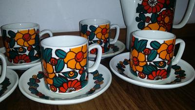 nádherný starožitný kávový servis značený Ditmar Urbach