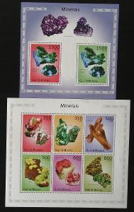 Guinea Bissau 2010 Mi.4985-0+Bl.862 24€ Minerály a horniny Afriky