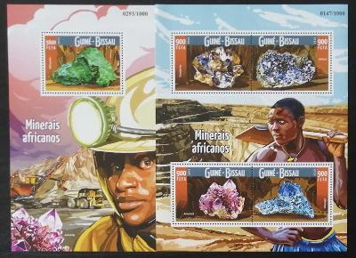Guinea Bissau 2015 Mi.8217-0+Bl.1426 27€ Minerály a těžba v Africe