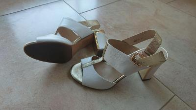 Krásné letní boty, kožené, vel.37, jako nové