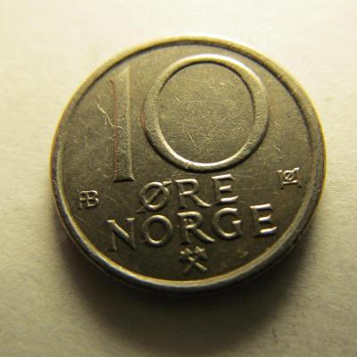Norsko - 10 Ore 1974