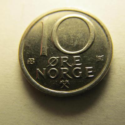 Norsko - 10 Ore 1977