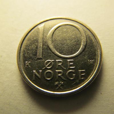 Norsko - 10 Ore 1991
