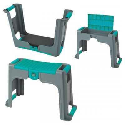 Zahradní stolička 3 v 1 s uzamykatelnou přihrádkou na malé části