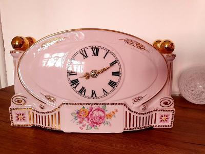 Růžový porcelán h&c,,,nádherné veliké hodiny...Top!!!