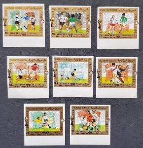 Jemen 1980 MS fotbal Argentina, série 8ks známek, kat. 100 Euro!