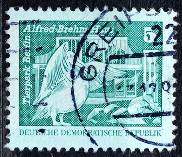 DDR: MiNr.1947 Pelican, Berlin ZOO 5pf, Buildings in the GDR 1974