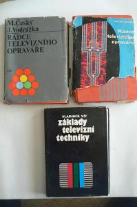 3 STARÉ KNIHY PRO TELEVIZNÍ OPRAVÁŘE