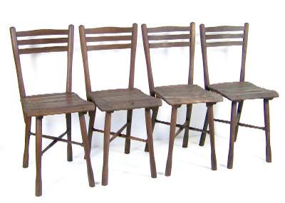 4 x Židle zahradní Thonet Nr.5, 1900ca - 2