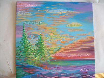 2 SMRKY, akryl na plátně, 50x50cm