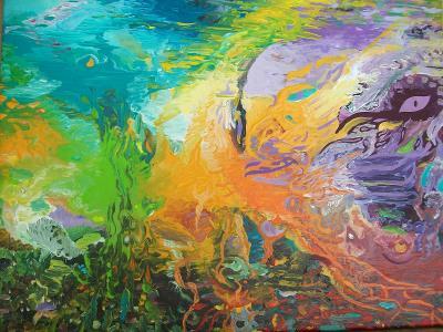 LÁVOTOK, akryl na plátně, 40 x 50 cm