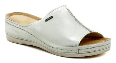pantofle dámské Wawel W413 stříbrná,  Nové vel.38