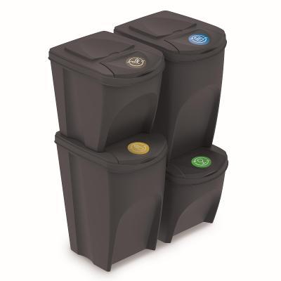 Sada segregačních košů Sortibox2x25L + 2x35L IKWBMS4-S433 - antracit