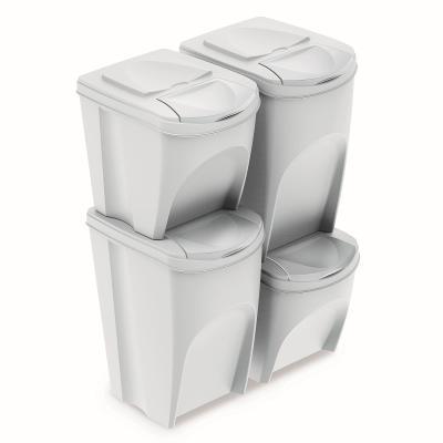 Sada segregačních košů Sortibox 2x25L + 2x35L IKWBMS4-S449 - bílá