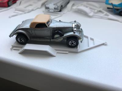 3D tisk, platak vhodný na modely Matchbox atd.