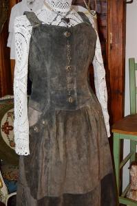 !!! Dobové šaty celokožené úžasné vel. 40 !!!