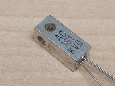 Historický germaniový tranzistor AC181 KVII