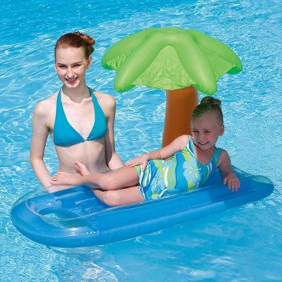 Dětské lehátko se slunečníkem ve tvaru palmičky Lehátko se slunečníkem