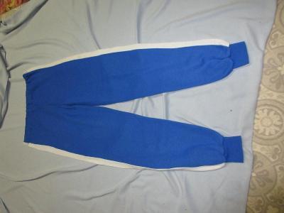 tepláky modré s pruhem dámské,pánské