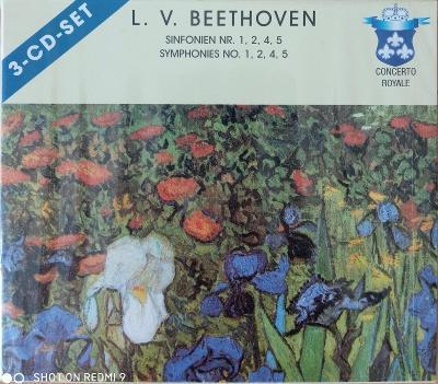 BEETHOVEN L.  Symphonies No.1,2,4,5   3 CD SET