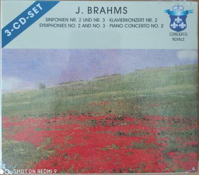 BRAHMS J.  Symphonies No.2,3,Piano...  3 CD SET